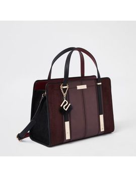 Dark Red Tote Bag by River Island