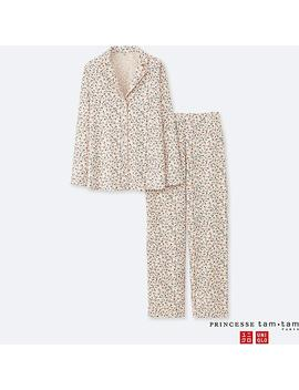 Women Princesse Tam.Tam Flannel Long Sleeve Pyjamas by Uniqlo