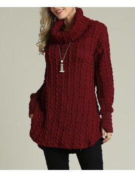 Raisin Cowl Neck Sweater   Women & Plus by Suzanne Betro