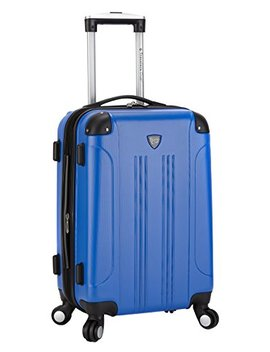 "Travelers Club Luggage Chicago 20"" Hardside Expandable Carry On Spinner, Cobalt Blue by Traveler's Club"