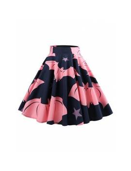 "<P>Halloween Bat Pattern Mid Calf Skirt</P><I Class=""Icon Down Js Tap Up Down""></I> by Dress Lily"