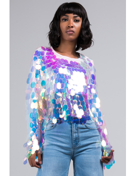 Keke Do You Love Me Sequin Top by Akira