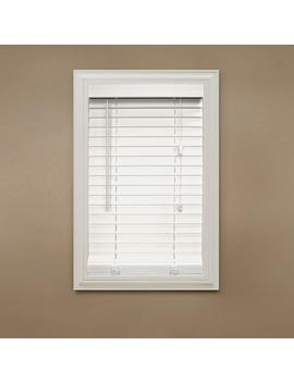 White 2 In. Faux Wood Blind   36 In. W X 84 In. L (Actual Size 35.5 In. W X 84 In. L ) by Home Decorators Collection