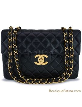 "Rare Chanel Vintage Black Maxi ""Jumbo Xl"" Classic Flap Bag 24k Ghw 63115 by Chanel"