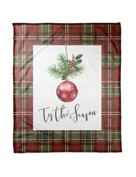 The Holiday Aisle Wilde Tis The Season Blanket by The Holiday Aisle
