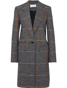 Checked Houndstooth Woven Coat by Chloé