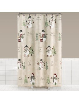 The Holiday Aisle Braxton Snowman Shower Curtain by The Holiday Aisle