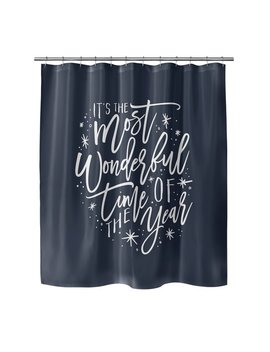 Brayden Studio Giannini The Most Wonderful Time Shower Curtain by Brayden Studio