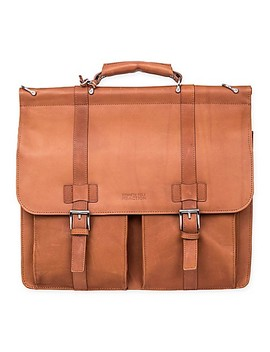 Kenneth Cole Columbian Leather Portfolio In Cognac by Bed Bath And Beyond