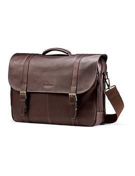 Samsonite® Colombian Leather Flapover Business Case In Brown by Bed Bath And Beyond