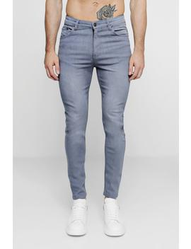 Grey Skinny Fit Jeans by Boohoo