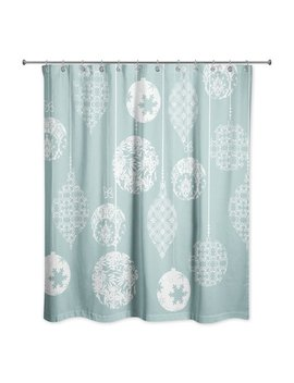 The Holiday Aisle Worceer Ornaments Shower Curtain by The Holiday Aisle
