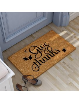 Andover Mills Lofton Give Thanks Doormat & Reviews by Andover Mills