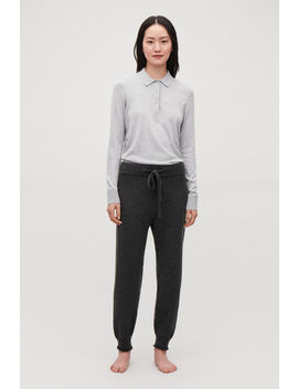 Cashmere Drawstring Trousers by Cos