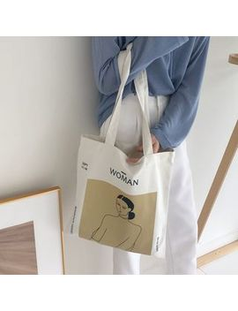 Milha   Printed Canvas Tote Bag by Milha