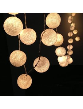 The Holiday Aisle Cotton Balls 20 Led String Lights by The Holiday Aisle