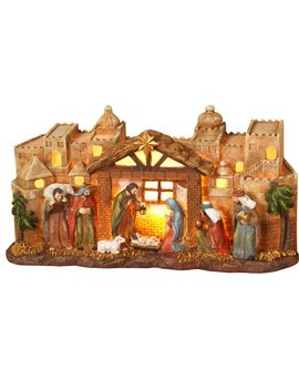 Gein Nativity Scene 2 Light Lamp by Gerson International