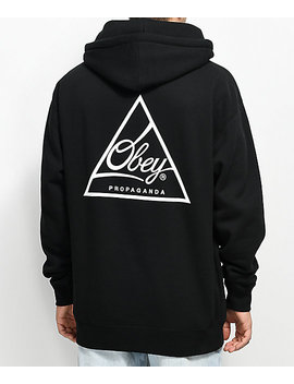 Obey Next Round 2 Black Hoodie by Obey
