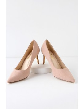 Cassidy Mauve Suede Pumps by Lulus
