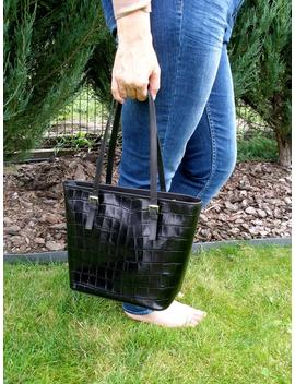Vintage Leather Bag Black Leather Tote Black Leather Bag Leather Tote Bag Black Tote Real Leather Bag Women Leather Bag Tote Bag Women Bag by Etsy
