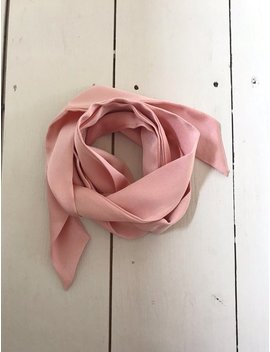 silky-boho-hair-scarf---pink-grey-pussy-bow,-silk-scarf,-bandana,-hair-scarf,-mod-scarf,-rockabilly,-70s-clothing,-grey-skinny-scarf by etsy