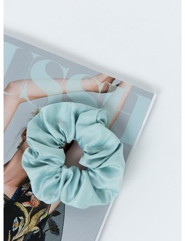 Satin Scrunchie Baby Blue by Princess Polly