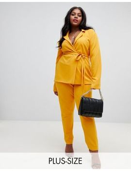 Lasula Plus Cigarette Pants In Yellow by Lasula