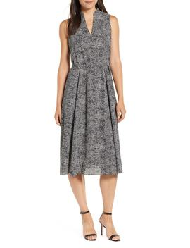 Sleeveless Print Midi Dress by Anne Klein