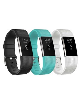 3 Pack Soft Replacement Silicone Watch Band Wrist Strap For Fitbit Charge 2 by Ee Ekit