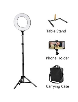 Led Ring Light   14inch 3200 K/5600 K Bicolor Dimmable Lighting Kit With 70 Inch Light Stand & Table Top Stand, Superbright & Durable, Adjustable Angle And Easy Assembly For Studio Video Selfie You Tube by Mactrem