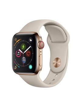 Apple Watch Series 4 Gps + Cellular   40mm   Gold Stainless Steel Case   Stone Sport Band by Apple