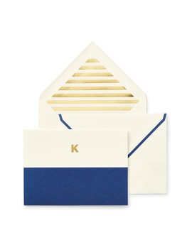 Dipped Note Cards   Set Of 10 by Kate Spade New York
