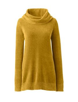 Women's Long Sleeve Chenille Cowl Neck Tunic Sweater by Lands' End