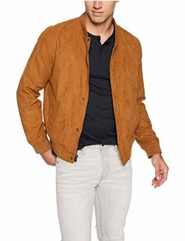 Levi's Men's Faux Suede Varsity Baseball Bomber Jacket, by Levi%27s