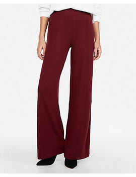 High Waisted Brushed Wide Leg Pant by Express