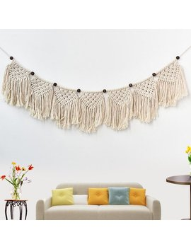 Bohemian Macrame Woven Tapestry Wall Hanging Handmade Cotton Rope Home Decor Craft Christmas Birthday Gifts by Generic