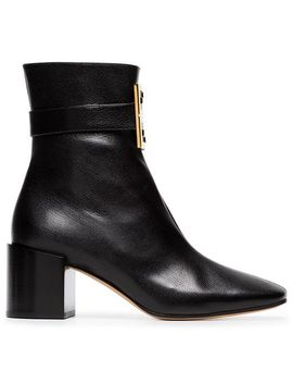 Black 4 G Leather Ankle Boots by Givenchy