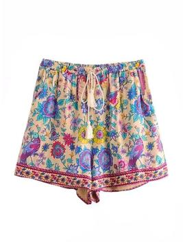'winona' Boho Floral Print Drawstring Shorts (3 Colors) by Goodnight Macaroon