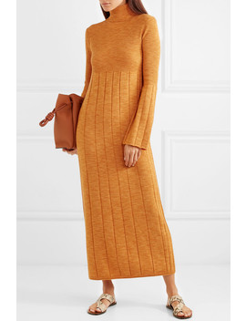 Clementine Ribbed Merino Wool Turtleneck Maxi Dress by Elizabeth And James