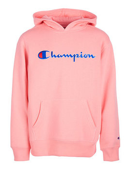 Big Girls Heritage Logo Hoodie by Champion