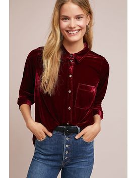 Velvet Buttondown by Maeve