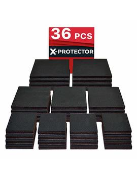 "Non Slip Pads X Protector Great Pack (36 Pack) 16 Pcs 2"" + 12 Pcs 3"" + 8 Pcs 4"" Furniture Pads! Best Furniture Grippers – Rubber Feet   Floor Protectors – Non Skid Pads For Keep In Place Furniture by X Protector"