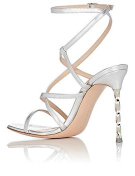 Metal Heel Leather Sandals by Gianvito Rossi