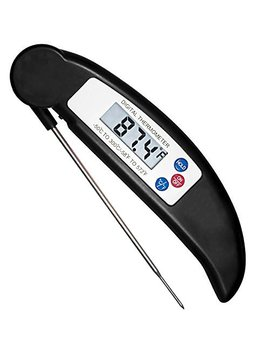 Coolead® Cooking Thermometer,Digital Instant Read Thermometer With Long Probe,Lcd Screen,Anti Corrosion, Best For Food, Meat,Wine, Grill, Bbq, Milk, And Bath Water (Black) by Coolead