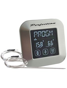 In Oven In Bbq Grill And Smoker Digital Meat Thermometer Kitchen Timer Instant Read Meat Thermometer With Oven Probe Touchscreen Kitchen Cooking Thermometer  Perfect For In Oven Roasts And Meat Smoker by Perfection Meat Thermometer