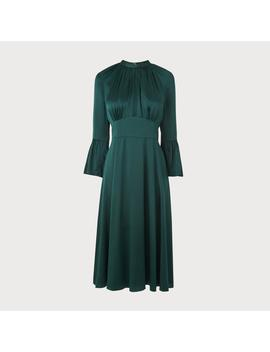 Sage Green Silk Dress by L.K.Bennett