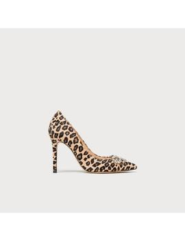 Fern Leopard Print Calf Hair Closed Courts by L.K.Bennett