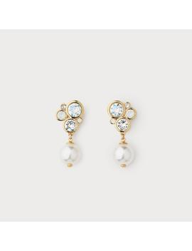 Paola White Pearl Drop Earrings by L.K.Bennett