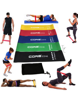 Set Of 5 Resistance Exercise Loop Bands Home Gym Fitness Premium Natural Latex by Ebay Seller
