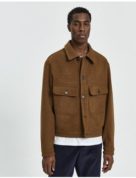 Felt Jacket In Cognac by Lemaire